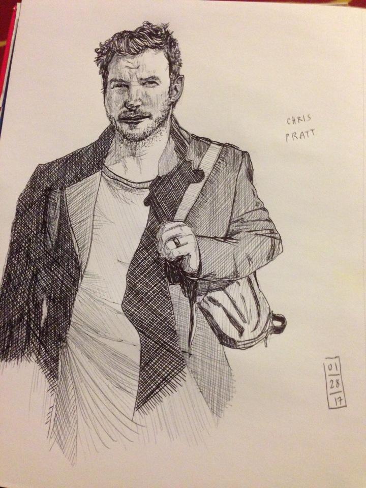 chris-pratt-pen-sketch